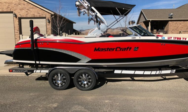 2015 MASTERCRAFT X46 VIPER RED/BLACK/SILVER FLAKE full